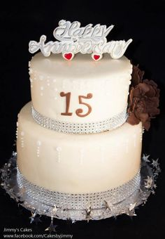 15th Year Anniversary Cake