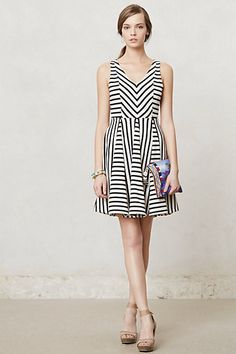 Striped Day Dress #anthropologie