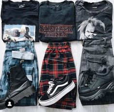 streetwear grunge Left, right or middle Vintage Outfits, Retro Outfits, Vintage Fashion, Vintage Style, Vintage Rock, Retro Style, Edgy Outfits, Mode Outfits, Fall Outfits