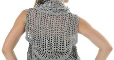 Vests should be a wardrobe staple.works like boleros and cardis but the thing with vests is that it could be playful. You can add long s. Crochet Vests, Crochet Top, Wardrobe Staples, Women, Fashion, Vest Coat, Crochet Edgings, Boleros, Moda
