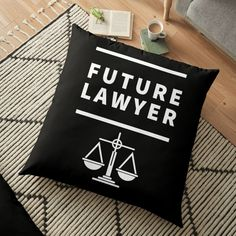 'Future Lawyer - student of law school' Floor Pillow by RIVEofficial Diy Couch, Diy Pillows, Floor Pillows, Throw Pillows, Lawyer Fashion, Bedding Master Bedroom, Cozy Bed, Bed Styling, Law School