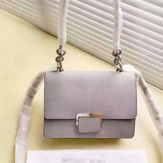 MICHAEL Michael Kors Cynthia Small Leather Shoulder Bag Grey 2b175483d8539