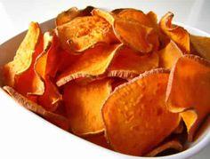 Skinny Points Recipes  » Baked Sweet Potato Chips