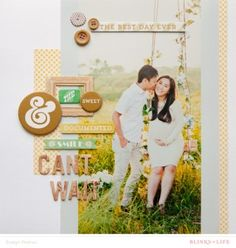 #papercraft #scrapbook #layout. Just Can't Wait - Blinks of Life Evelyn Pratiwi