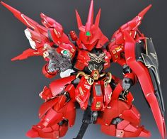 "Custom Build: HG x SD MSN-04 Sazabi ""Flame"" - Gundam Kits Collection News and Reviews"