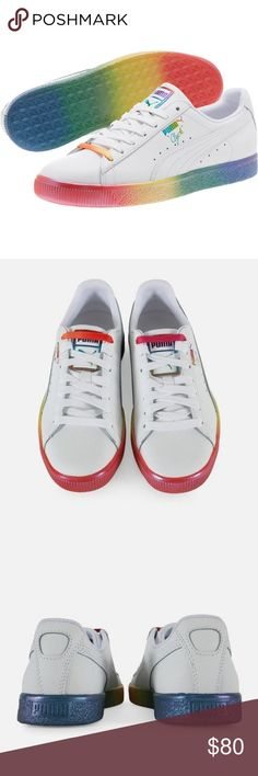bb1abfa769d8 PUMA Clyde Pride Sneakers Men s 11.5 Rainbow NWOB Show your LGBT pride in  these Clyde Pride