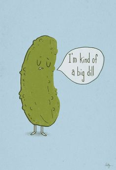 *snort* - Big Dill Art Print-Phil Jones