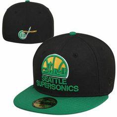 New Era Seattle SuperSonics 2-Tone Vintage 59FIFTY Fitted Hat Nba Hats c430ebc5188e