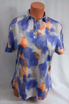 NWT-DKNY-Golf-by-JAMIE-SADOCK-SS-Golf-Shirt-Polo-89-Bahama-Blue-866-Medium-M