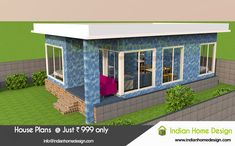Searching for One floor house design plans ? then here is a modern low budget home villa concept. Home Design Images, 3d Home Design, Indian Home Design, Kerala House Design, Villa Design, Small House Design, Facade Design, Home Design Plans, Architecture Design