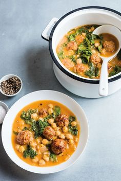 chickpea and turkey meatball soup