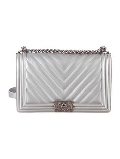 Chanel S/S 16 Medium Plus Chevron Quilted Boy Bag #Chanel