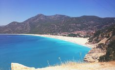 Over view of Oludeniz beach Travel Inspiration, Turkey, Beach, Places, Water, Outdoor, Gripe Water, Outdoors, Turkey Country