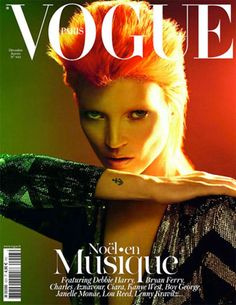 Kate Moss for Vogue Paris as Bowie is a YES.