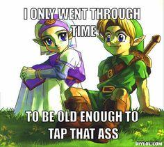 Link, shame on you...