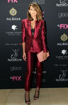 Jesinta Campbell.. Bianca Spender suit, Nader Jewels, and Salvatore Ferragamo clutch..