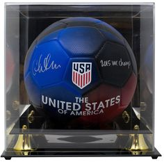 c935c54874794 Christen Press Signed Nike Soccer Ball 2015 World Cup Champs JSA w  Display  Case
