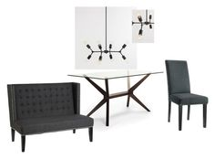 """Joaquin - Dining Room"" by orion199 on Polyvore featuring interior, interiors, interior design, home, home decor, interior decorating, 4040 Locust and dining room"