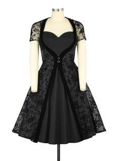 Robe Rockabilly Gothique Chicstar
