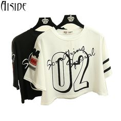 Find More T-Shirts Information about 2016 hot sale t shirt women number 02 printed Female crop tops High Quality tees shirt best Friends letters funny T shirt,High Quality t-shirt product,China women earings Suppliers, Cheap women from Aiside Apparel(Drop Shipping) on Aliexpress.com
