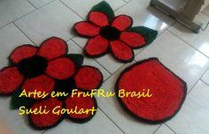 ARTES EM FRUFRU BRASIL : Jogo De Banheiro Tapete Frufru