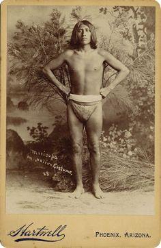 Maricopa man - circa 1880 .