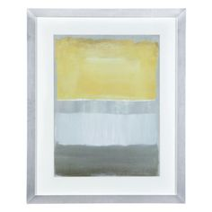 Half Light 1 from Z Gallerie - Artwork perfect for living room to tie in gray, cream, yellow.