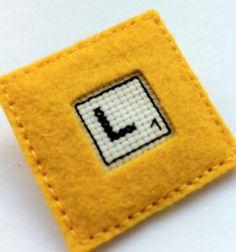 Initial jewelry  scrabble letter brooch  felt by Gluckhandmade, €5.50