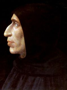 Portrait de Savonarole par Fra Bartolomeo en 1498, ce frère dominicain prêcha de façon véhémente contre la corruption du clergé et fut brûlé sur un bûcher!