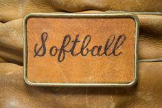 Softball Belt Buckle by SoftSparkArt on Etsy