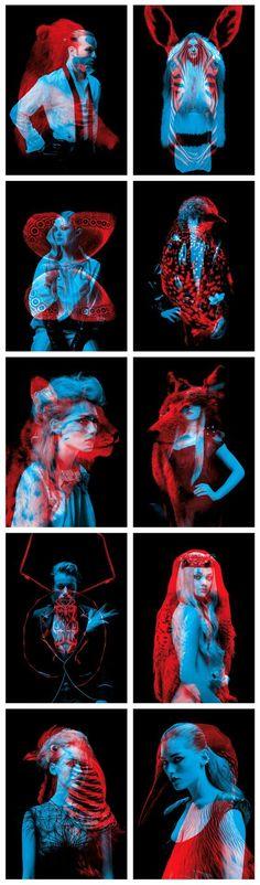 Series of double exposure portrait by Helmo. #photography #portrait #animal…: #creativephotography