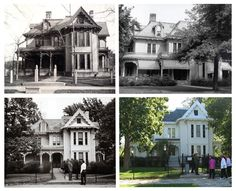 #ThrowbackThursday: The Harry S Truman Home in Independence, MO is one of the most prestigious Victorian homes in Independence, w/ 14 rooms and about 8,800 sq ft. The home at 219 North Delaware St. was the home of Harry S Truman, from 1919, until his death in 1972. George Porterfield Gates, built the house in 1867, adding a grand addition to the two-story house in 1885. #TBT #HistoricKCHomes (Truman Home through the years: 1880s, 1930s, 1950s and present day. - Images from Truman Library…
