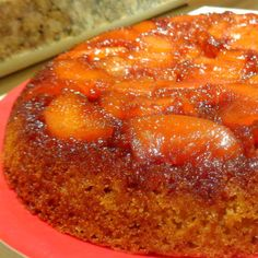 One Perfect Bite: Rustic Peach Upside-Down Cake