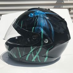 aa5a4e7afc6d Airbrushed dragonfly Harley Helmet we painted here at our 88 Custom Design  shop
