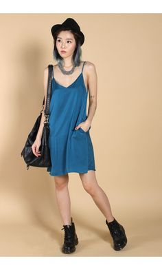 4e561e7d177f YHF - Girls Night Out Dress in Teal - Young Hungry Free