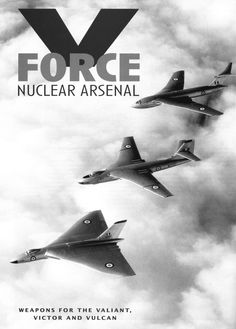 enrique262:  The British V-bombers/los bombarderos V británicos: Vickers Valiant, Avro Vulcan and Handley Page Victor.