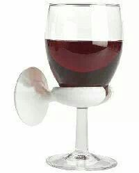 Bath tub wine holder