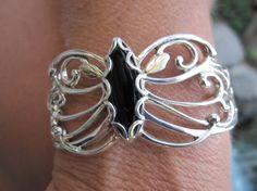 Black Hills Butterfly Sterling/12k Gold Cuff by VintageGem4U, $249.00