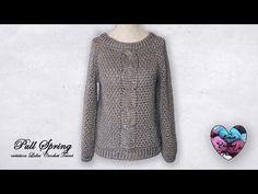 YouTube Lidia Crochet Tricot, Pull Crochet, Crochet Videos, Spring, Foto E Video, Pullover, Instagram, Sweaters, Youtube