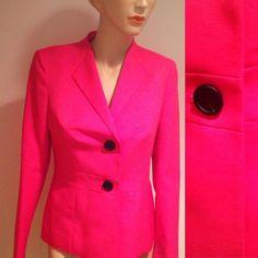New pink blazer Calvin Klein available in sizes 4,6,8,10,12,14p,16 Calvin Klein Jackets & Coats Blazers