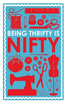 Being Thrifty is Nifty Letterpress Print. $35.00, via Etsy. I want this, but I'm not very good at following the sentiment. :)