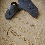 Bring Beer Follow Me Sandals www.coolestcoolgadgets.com