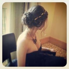 bridemaids/ chignon bas/ flou/ ruban