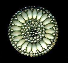 Antique LACY GLASS Button...SUNFLOWER...Fabulous Original Condition
