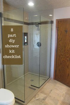 """Go through this 8 part DIY shower kit checklist to not get caught with your """"remodeling pants"""" down! Shower Kits, Diy Shower, Shower Tub, Remodeling Companies, Home Remodeling, Small Living Room Layout, Diy Bathtub, Glass Shower Enclosures, Living Room Remodel"""