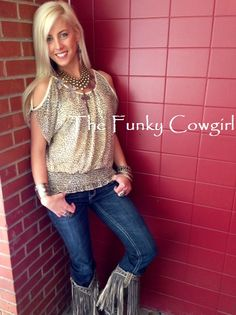 Cheetah Crazy! Gypsy Soule Jewelry, DD Ranch Boots by Lane and Grace of LA Denim.