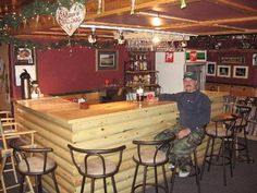 My dad made this bar at his resort at Muskie Bay Resort.