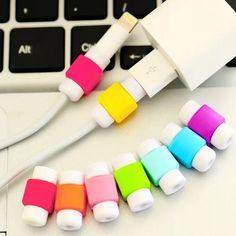 Protetor de cabo usb colorido capa case para apple iphone 5 5s 5C 6 Mais 6 S SE Carregador Cabo de Dados Fone de Ouvido Acessórios Para P50