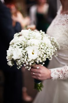 Gypsophila and Lisianthus Bridal Bouquet