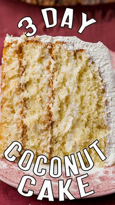 A few weeks ago I was attempting a 5 day sugar fast. I still needed to work, which for me means making desserts. I decided to make a coconut cake because they don't tempt me. I don't love coconut. I thought it would be no problem to resist the cake. Enter this 3 Day Coconut Cake. I made it on Monday and Wednesday night after I photographed it, my husband, son and I stood around the cake plate and devoured it. This cake is AMAZING and here's why. Cool Whip Frosting, Whipped Frosting, Round Cake Pans, Round Cakes, Make Ahead Desserts, Tres Leches Cake, Box Cake Mix, White Cake Mixes, Cake Mix Recipes
